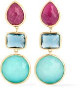 Ippolita Rock Candy® 18-karat Gold Multi-stone Earrings - Blue