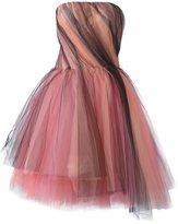 Oscar de la Renta tulle strapless dress