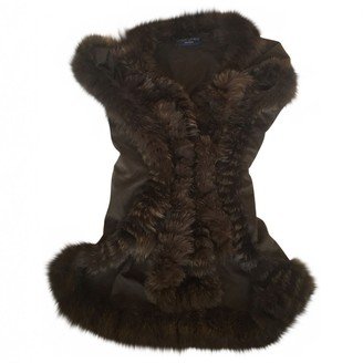 Saint Laurent Brown Fur Coat for Women Vintage