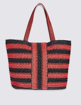 M&S Collection Striped Shopper Bag