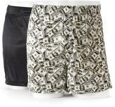 Croft & Barrow Men's 2-pack Solid & Novelty Microfiber Knit Boxers