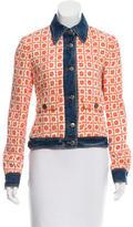 Dolce & Gabbana Denim-Trimmed Tweed Jacket