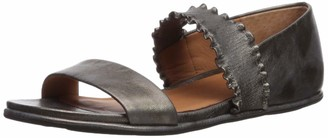 Gentle Souls by Kenneth Cole Women's Lark Ruffle Strap Sandal Flat