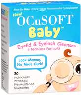 Ocusoft Baby Eyelid & Eyelash Cleanser Individually Wrapped Pre-Moistened Towelettes