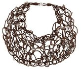 Brunello Cucinelli Cord & Bead Bib Necklace