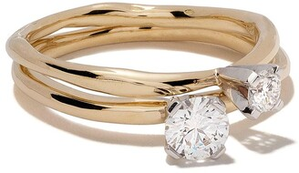 Wouters & Hendrix Gold 18kt yellow and white gold Toi et Moi' diamond ring