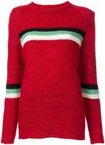 The Elder Statesman striped panel knitted jumper