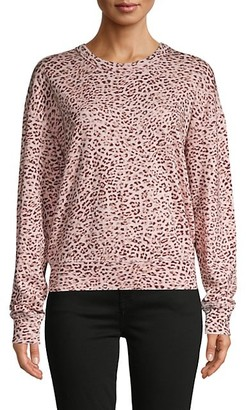 n:philanthropy Leopard-Print Cotton-Blend Sweatshirt