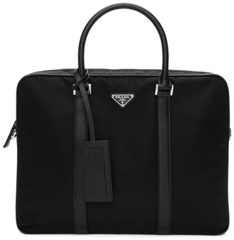 Prada Black Small Custmizable Briefcase