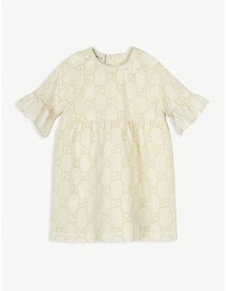 Gucci Embroidered logo cotton dress 3-36 months