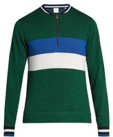 Paul Smith Zip-through Striped Wool And Silk-blend Sweater