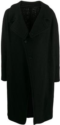Julius off-centre buttoned coat