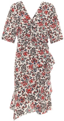 Isabel Marant Arodie floral stretch-silk minidress