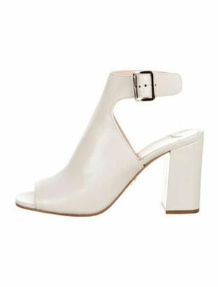 Prada Leather Pumps White