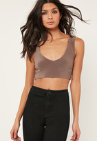 Missguided Grey Chain Detail Bralet