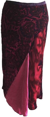 Pinko Red Velvet Skirt for Women