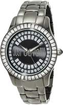 Just Cavalli Women's R7253169125 Ice Round Stainless Steel Swarovski Crystal Luminous Watch