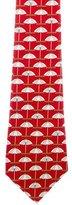 Chanel Umbrella Print Silk Tie