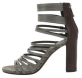 Brunello Cucinelli Monilli-Trimmed Multistrap Sandals