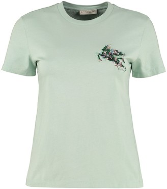Etro Embroidered Cotton T-shirt