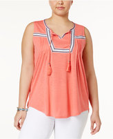 Style&Co. Style & Co Plus Size Peasant Top, Created for Macy's