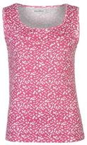 Full Circle Womens Print Rib Vest Tank Top Sleeveless Crew Neck Cotton