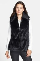 Faux Fur Vest with Drawstring Waist