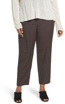 Eileen Fisher Plus Size Women's Tencel & Linen Ankle Pants