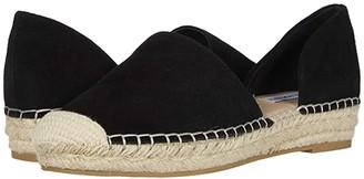 Steve Madden Leema Espadrille Flat (Black Suede) Women's Shoes