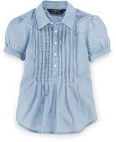 Ralph Lauren Pleated Cotton Twill Shirt