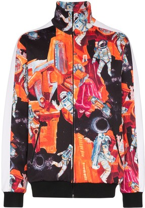 Valentino Spaceman-Print Track Jacket
