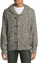 Buffalo David Bitton Men's Wynley Faux Fur Duffel Cardigan