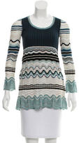 M Missoni Wool-Blend Long Sleeve Tunic