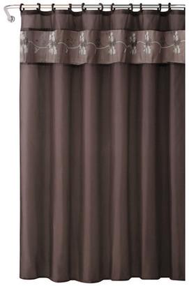 Kashi Beverly 18-Piece Shower Curtain Set, Chocolate