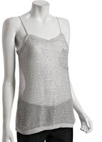silver fox beaded silk 'Bailey' tank