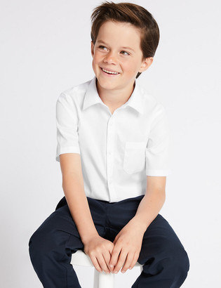 Marks and Spencer 2pk Boys' Slim Fit Non-Iron School Shirts
