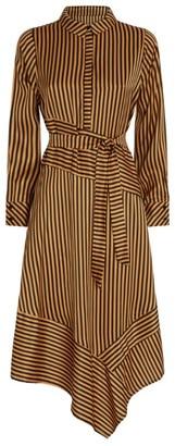 MUNTHE Manetta Striped Midi Dress