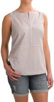 G.H. Bass & Co. Swiss Dot Gingham Shirt - Sleeveless (For Women)
