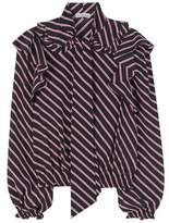 Balenciaga Ruffled striped blouse