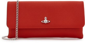 Vivienne Westwood Victoria Red Leather Clutch