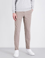 Brunello Cucinelli Traditional-fit cotton-twill trousers