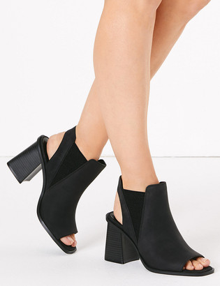 Marks and Spencer Block Heel Open Toe Shoe Boots