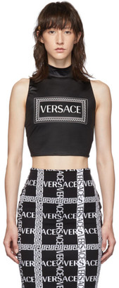 Versace Black Sleeveless Turtleneck