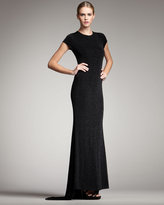 Alice + Olivia Rumor Open-Back Sparkle Gown