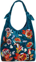 Steve Madden Dana Medium Hobo with Floral Embroidery