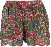 Petite Floral Scallop Short