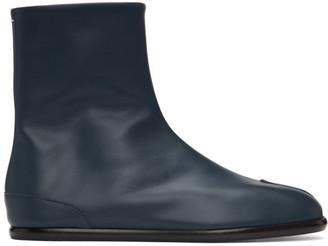 Maison Margiela Navy Flat Tabi Boots