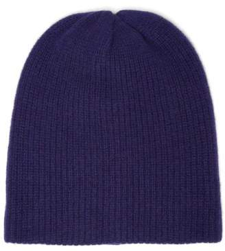 The Elder Statesman Watchman Ribbed Cashmere Beanie - Womens - Blue