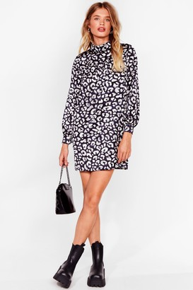 Nasty Gal Womens Smock It Outta the Park Animal Mini Dress - Grey