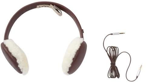 UGG Curly Genuine Sheepskin & Leather Wired Earmuffs
